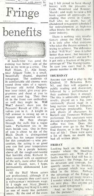 Review by John Mortimer