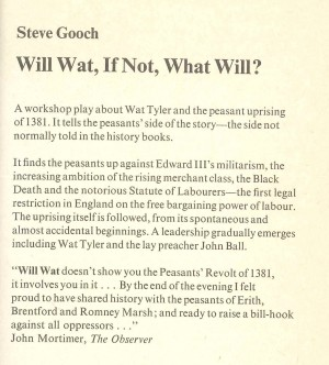Will Wat, if not, What will? - Description