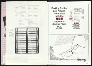 Astoria Theatre transfer souvenir brochure