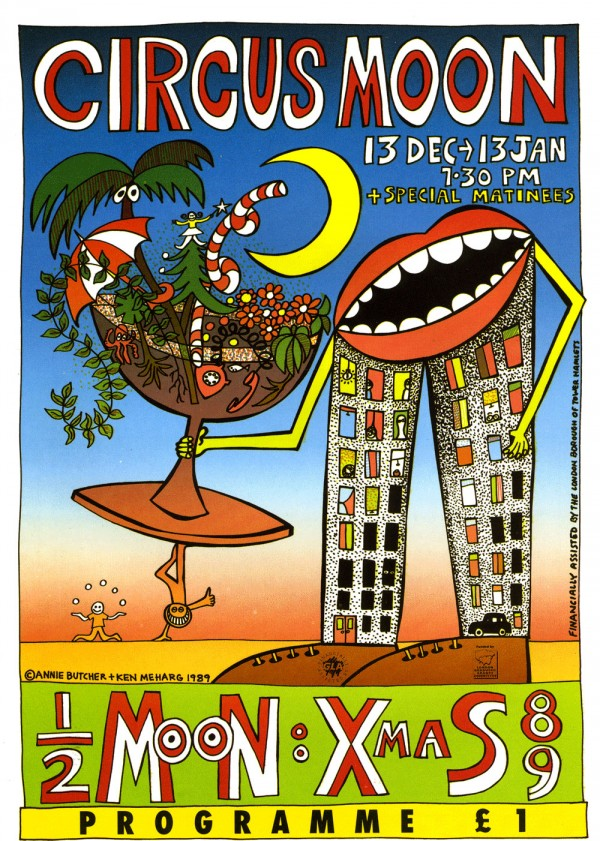 Circus Moon flyer programme cover