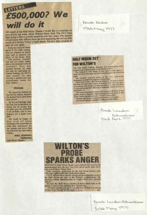 1977 Articles on bid to buy Wilton Music Hall (2)