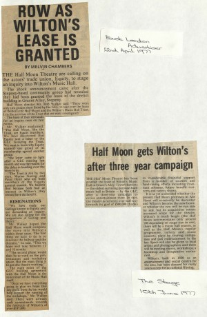 1977 Articles on bid to buy Wilton Music Hall (3)
