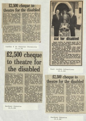 1984 mulitple articles on disability aid
