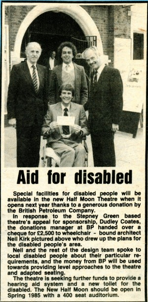 Aid for disabled at Half Moon