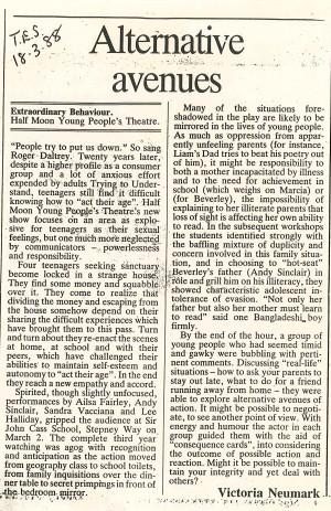 Victoria Neumark, TES, 18 March 1988