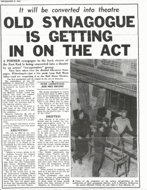 Article on Half Moon (Alie Street), London Express, 12 March 1971
