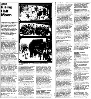 Article on Half Moon (Alie Street), Time Out 29 June-5 July 1973