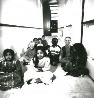 Children in Upstairs corridor
