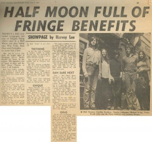 Article on Half Moon (Alie Street), East London Advertiser, 1972