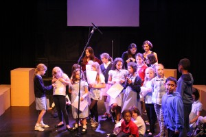 Eclipse Youth Theatre in rehearsal for What Do We Want? with James Grant