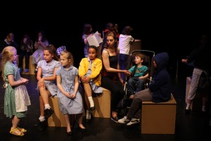 Eclipse Youth Theatre in rehearsal for What Do We Want?