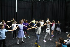 Eclipse and Equinox Youth Theatres in rehearsal