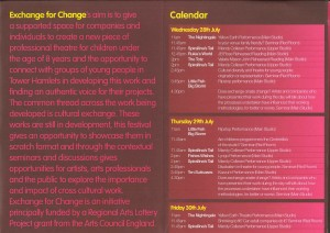 Exchange for Change 2004 - Programme (2)