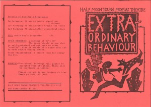 Extraordinary Behaviour Workshop Programme (1)