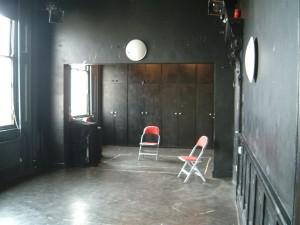 Half Moon Theatre, 43 White Horse Road, interior 1998. Photo by Patrick Baldwin