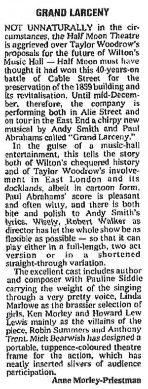 The Stage, Anne Morley-Priestman, 10 Nov 1977