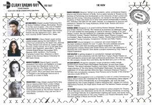 Guantanamo Boy - Programme (front)