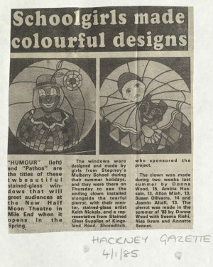 Hackney Gazette 4th Jan 1982- Stained Glass Windows