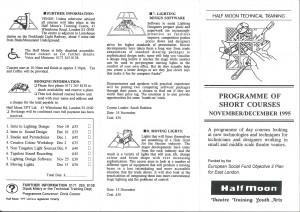 Half Moon Technical Theatre Training Course 1995 (1)