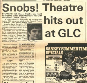 Half Moon Theatre (Mile End Road), The Express, 26 May 1979