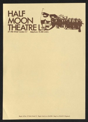 Half Moon Theatre headed paper - design by Martin J Walker