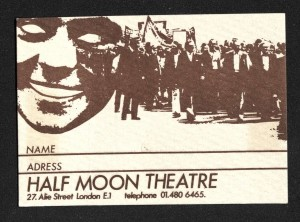 Half Moon Theatre membership form - design by Martin J Walker