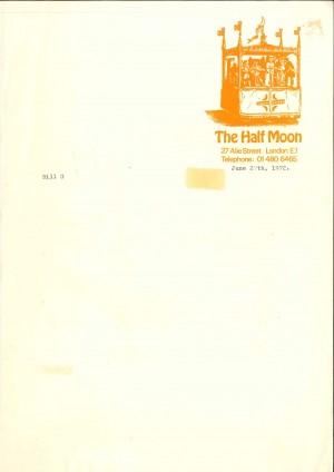 Half Moon letterhead - 1972