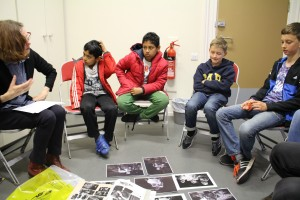 Training session about theatre photography with Sarah Ainslie