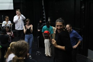 Lunar Youth Theatre in rehearsal for Control and Command