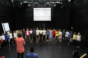 Equinox Youth Theatre in rehearsal for Hopscoth Hypnosis