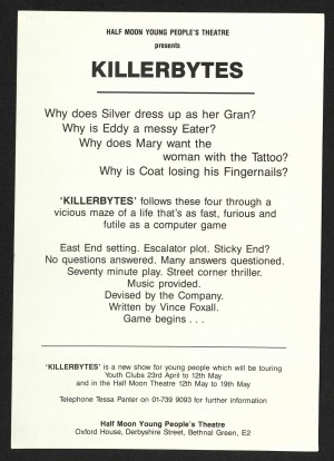 Killer Bytes Flyer (Back)