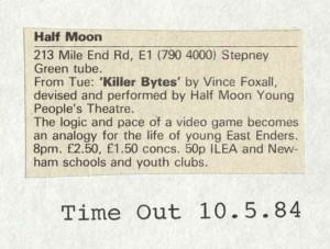 Killer Bytes - Time Out, 10 May 1984