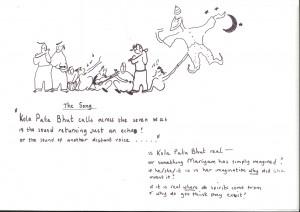 Kola Pata Bhut - The Hopscotch Ghost, Sketch (1)