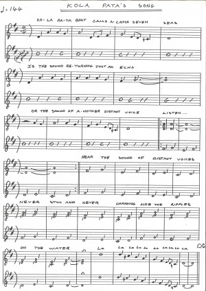 Kola Pata's Song - Sheet Music