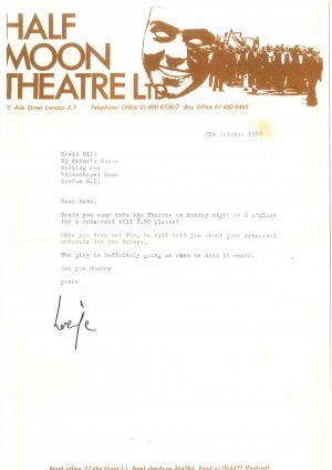 Letter to Dave Hill from Half Moon (1)