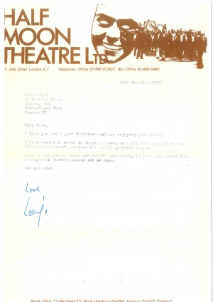 Letter to Dave Hill from Half Moon (2)