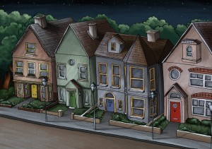 Lullaby Lane (night time), by Amberin Huq