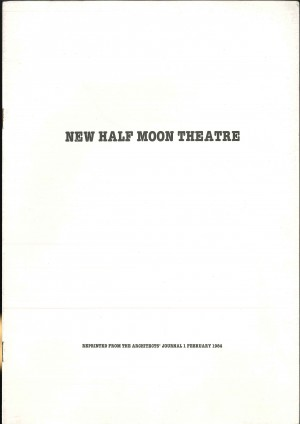 New Half Moon Theatre plans