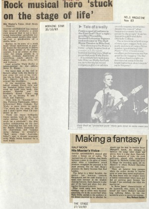 News Reviews November 1983 - His Masters Voice (3)