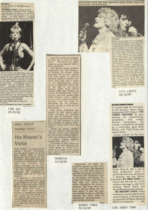 News Reviews November 1983 - His Masters Voice (4)
