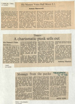 News Reviews November 1983 - His Masters Voice