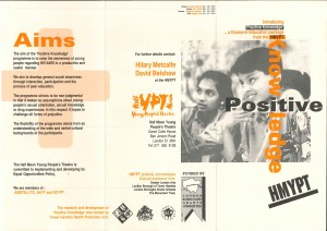 Positive Knowledge Flyer 1991 (front and back)