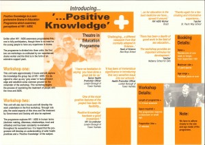 Positive Knowledge Flyer 1991 (middle)