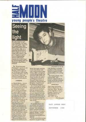 Press Feature - Phil Hewett, East London News, Sept 1988