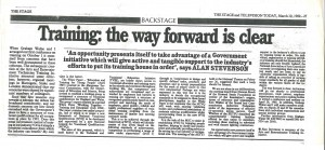 Press Feature - The Stage - Alan Stevenson