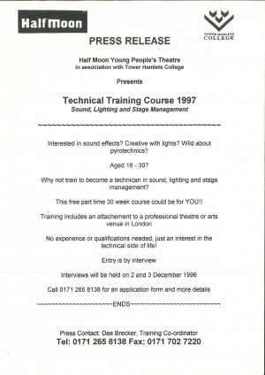 Press Release 1997 Technical Training Course