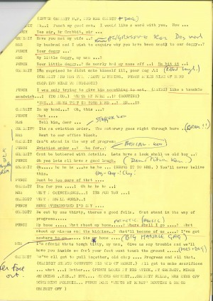 Michael Irving's script of Punch Gorilla