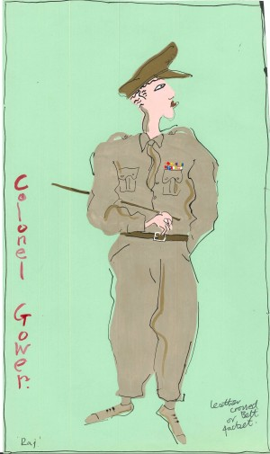 Raj - Colonel Gower - Costume Design by Mark Salkild