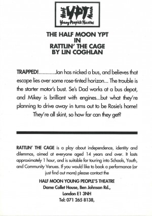 Rattlin' the Cage Flyer (Back)