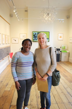 Ruth Sheen and work experience student Khalilah